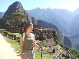 Finishing the Inca Trail; Machu Picchu, Peru