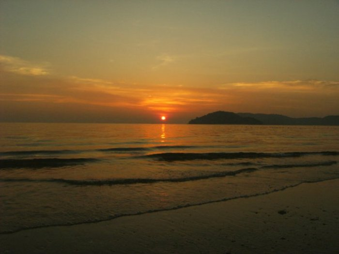 The sun sets on Langkawi Island