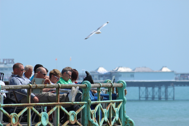 Weekenders relax with a sea view...