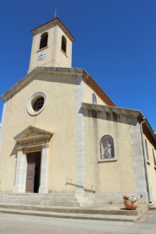 The Church of Porquerolles guards the main square