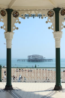 The old balustrades and pavilions make for a great seaside stroll