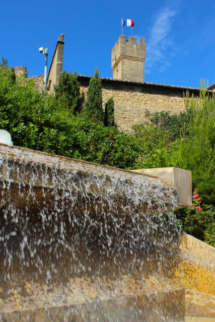 Salon de Provence's castle, against the famous azure sky of the area...