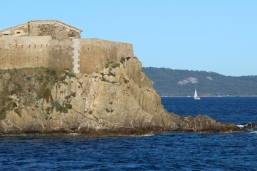 The old fortress marked out return to mainland France and the evening sun waned...