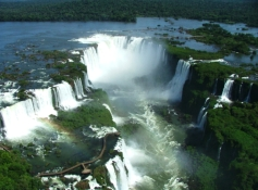 Iguazu Falls, bridging Brazil, Argentina and Paraguay, is one of UNESCO's few transboundary protected sites