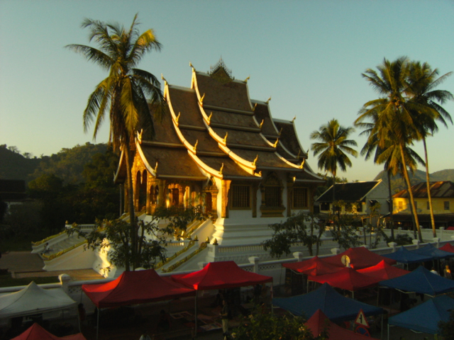 Luang Prabang, Laos; Hire a bike a spend days exploring the riverside & famous night market