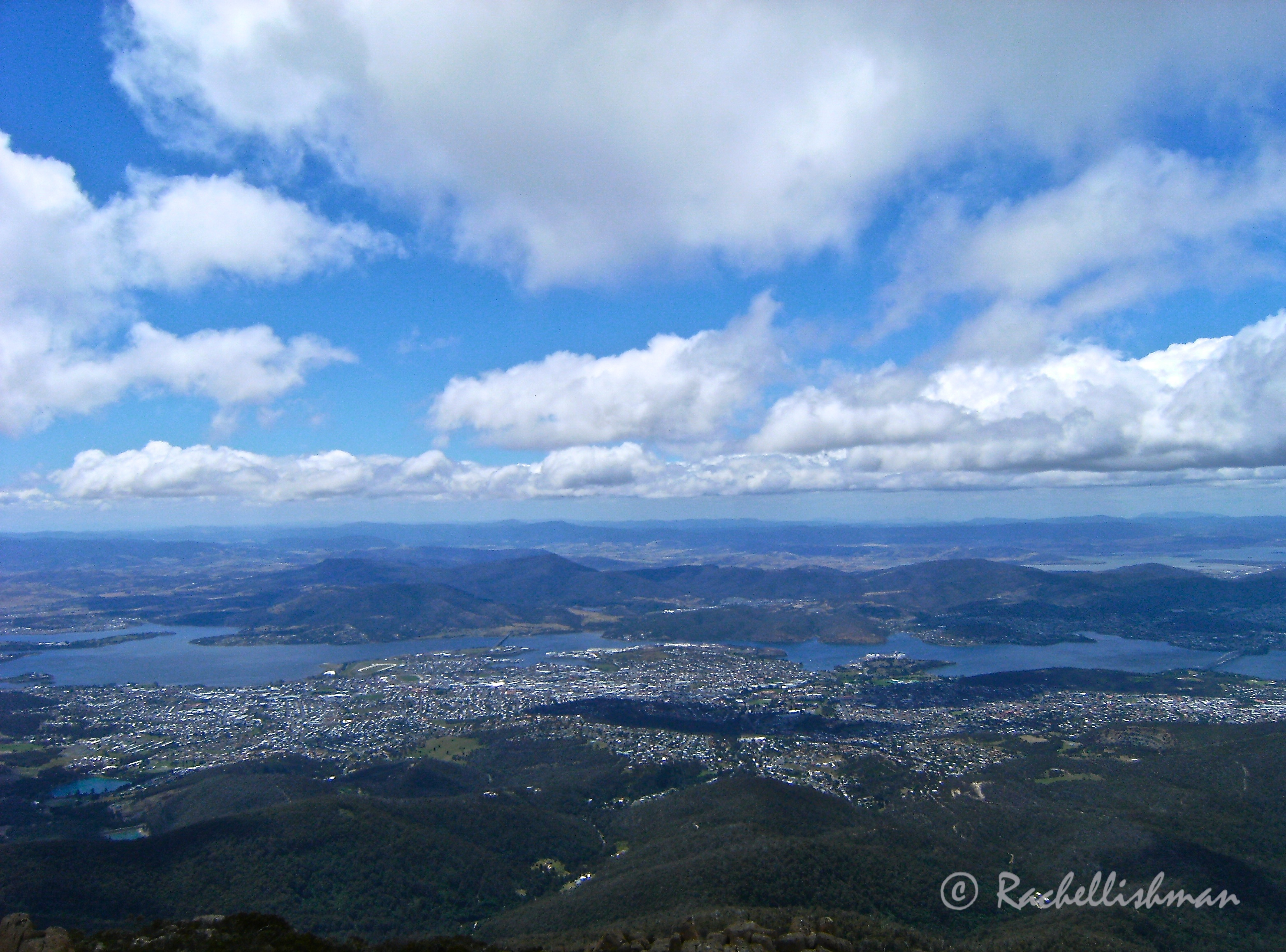 A view of Hobart from Mt Wellington