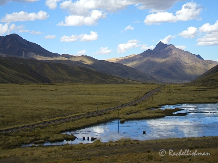 The road to nowhere - a brief fresh air stop on a Bolivian roadside...