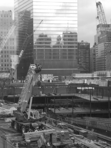 Ground Zero was still a massive construction site when I visited