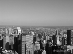 A monochrome view from the Empire State Building