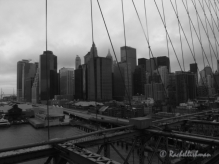 A cold and stormy view from Brooklyn Bridge