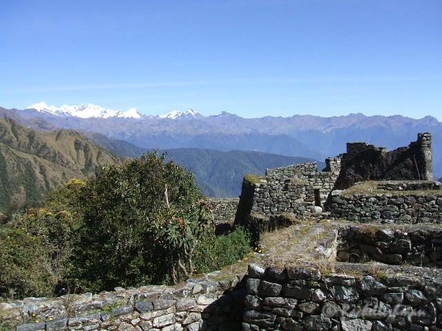 In the spirit of this post, this isn't Machu Picchu itself, but one of the many ruins you can see on the way there!
