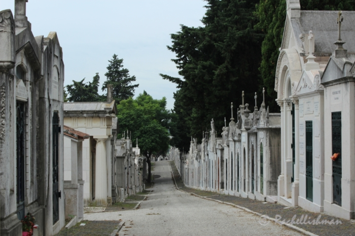 One of the cemetery's silent 'streets'