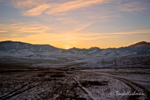 At dawn, the temperature started to rise from -23 degrees