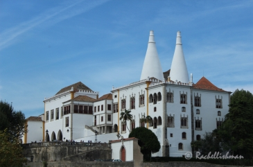 Sintra National Palace - a view from across the valley