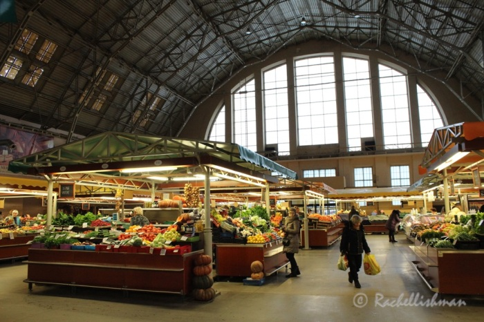 I started the second day with breakfast at Riga's famous markets. Once Zeppelin hangars during the war the five separate buildings now hold different foods