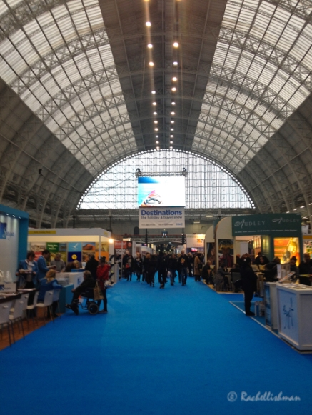 The Destinations Show 2015: The main hall at Kensington Olympia