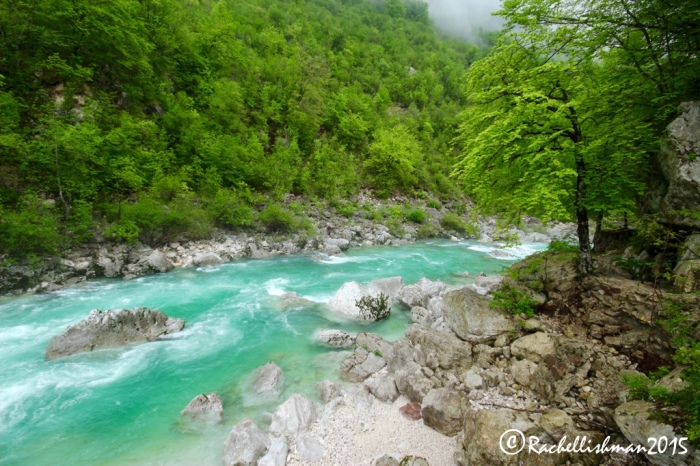 Endearingly nick-named the Emerald River, the Soca rivers runs west towards the Adriatic