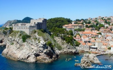A view beyond the walls to modern Dubrovnik