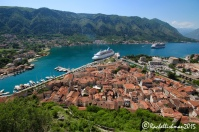 The ancient walled naval town of Kotor, Montenegro