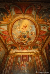 Frescos cover every ceiling throughout William III and his queen Mary's rooms