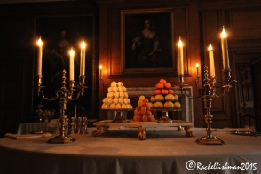 At moments, the palaces reception rooms (this, a dining room of William III) are silent and solitary