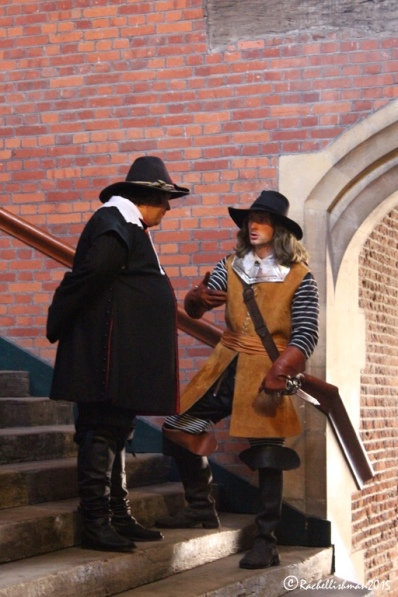 A series of micro-plays also mark the palace's anniversary. Here, Oliver Cromwell realises that Charles I has escaped...