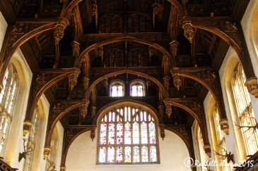Ever heard of eavesdroppers? Look closely and you will see the originals - hung in the eaves of The Great Hall, they knew all the courtly gossip!