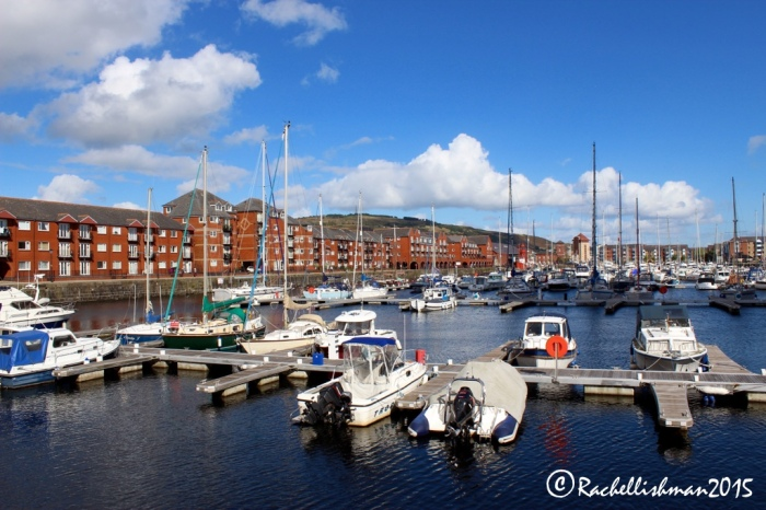 Swansea Marina - not quite so 'shitty' and far more 'pretty' in 2015.