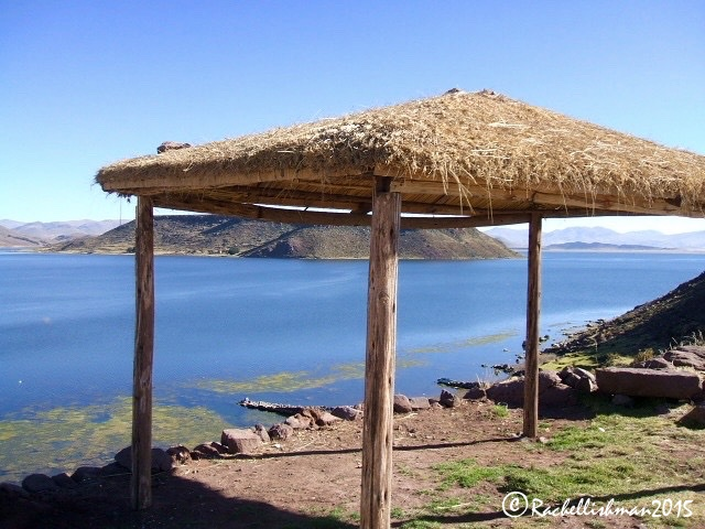 By the time we pulled into this picturesque lakeside stop on route to Puno, I had started feeling queasy...