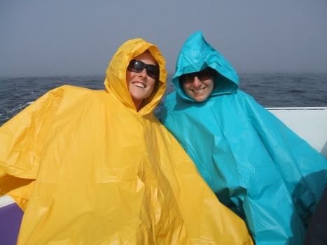 These are the ponchos we purchased for our Ballestas Island trip - they stopped us from getting covered in guano!