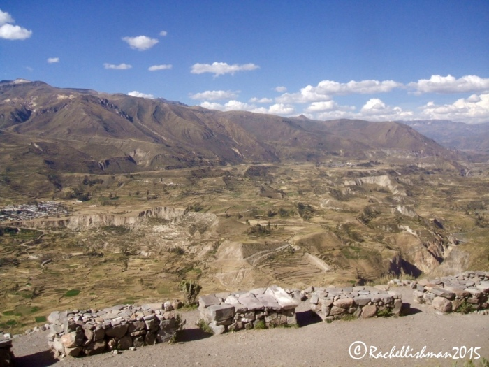 Ancient Inca step terraces are still maintained by farmers who cultivate the land