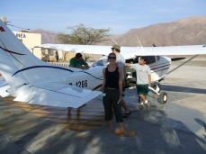 Small 6-seater planes take people up to see the Nazca lines from above - an unforgettable experience.