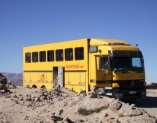 I travelled through South America with Tucan Travel. Our wonderful, knowledgeable guides showed us the continent on this big yellow truck. Truck days were long sometimes but this sight became our 'welcome home'!