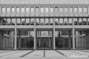 Lithuania's parliament building is stark and quiet. In a capital city of only 600,000 people, Vilnius' streets are rarely busy
