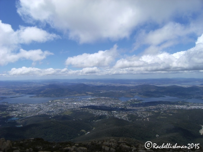 I drove up to Mount Wellington's summit to catch a great view of Hobart.