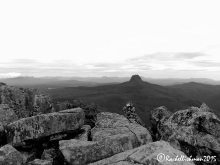 From the summit of cradle mountain, the centre of Tassie stretches out before you, but the climb to the top can be daunting!