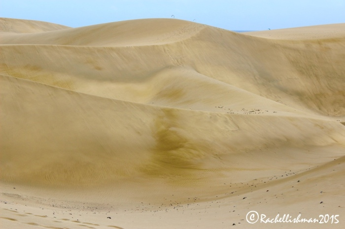 The Dunas de Maspalomas were formed at the end of the last ice age and easily dwarf humans.