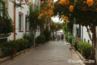 Flowers line every small street in Mogan, making it one of the most picturesque towns on the island