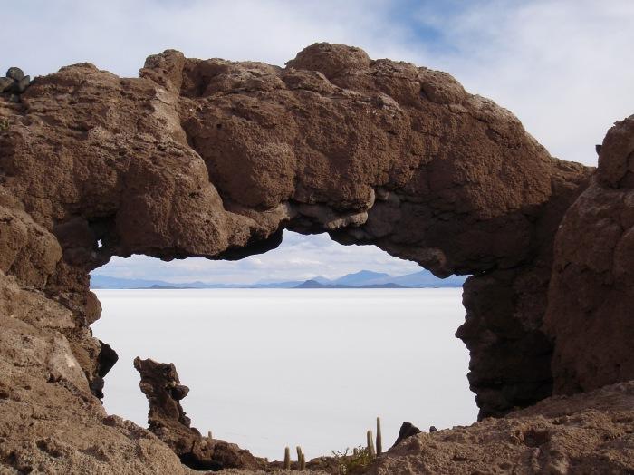 Island in Salar de Uyuni
