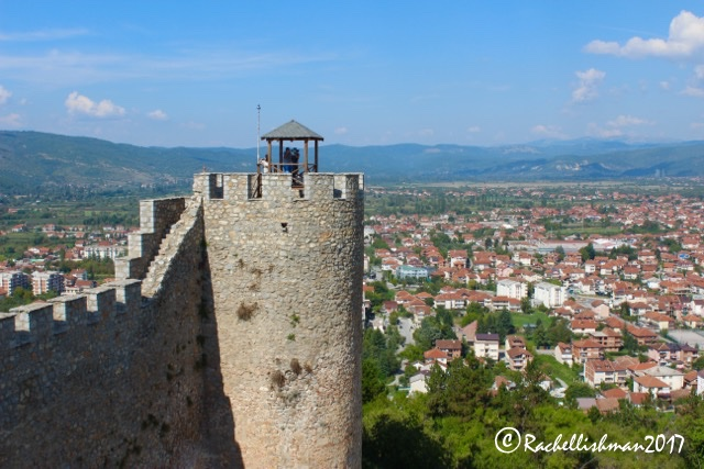 The 11th century Samuel's Fortress looks out over both old and new Ohrid