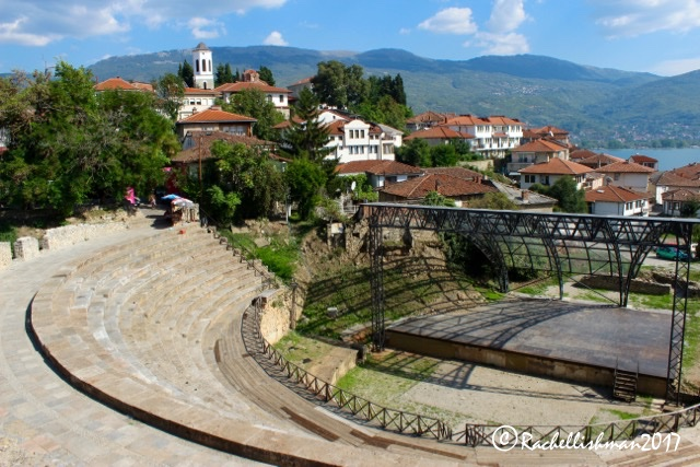 Ohrid's Ancient Theatre has hosted plays, gladiators and fights, and more sinister events...