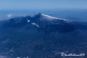 A final goodbye: Etna from above as I left my Italian adventure behind me...