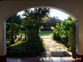 Hasta la proxima! The finca tells visitors 'until the next time' as they leave