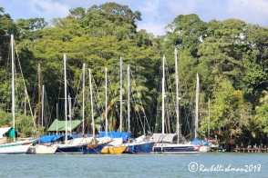 Rio Dulce's harbour is very sheltered from stormy seas. Wealthy travellers keep their luxury cruisers there.