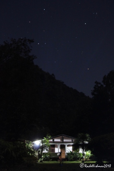 With no light pollution, after dark the finca was a sea of stars