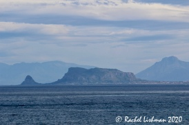 A view back towards Sicily's central north coast