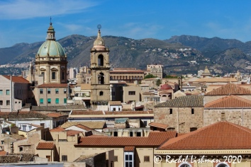 One of the only (and best) rooftop views of Palermo from Hotel Ambasciatori